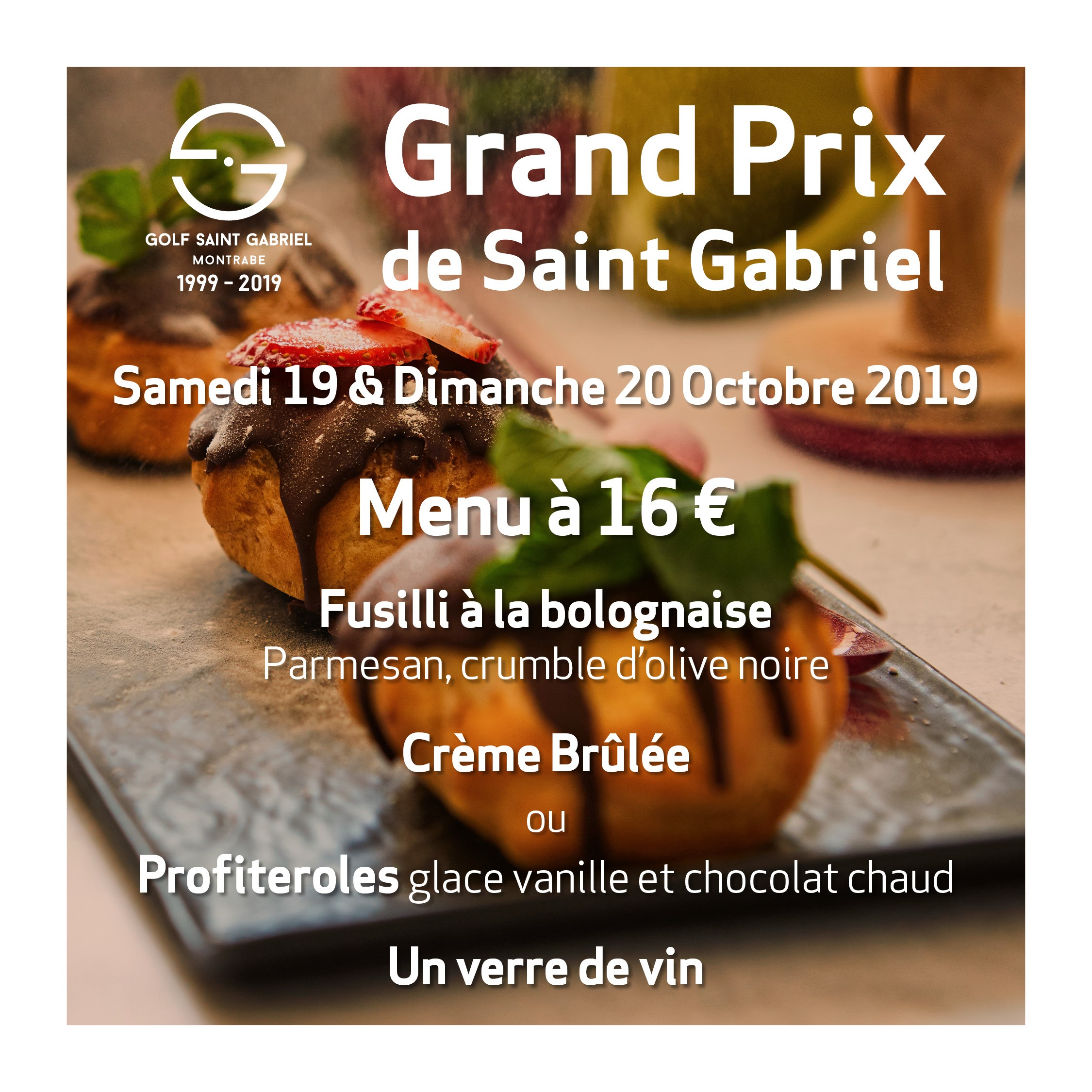 MENU SPECIAL Grand Prix de Saint Gabriel 2019