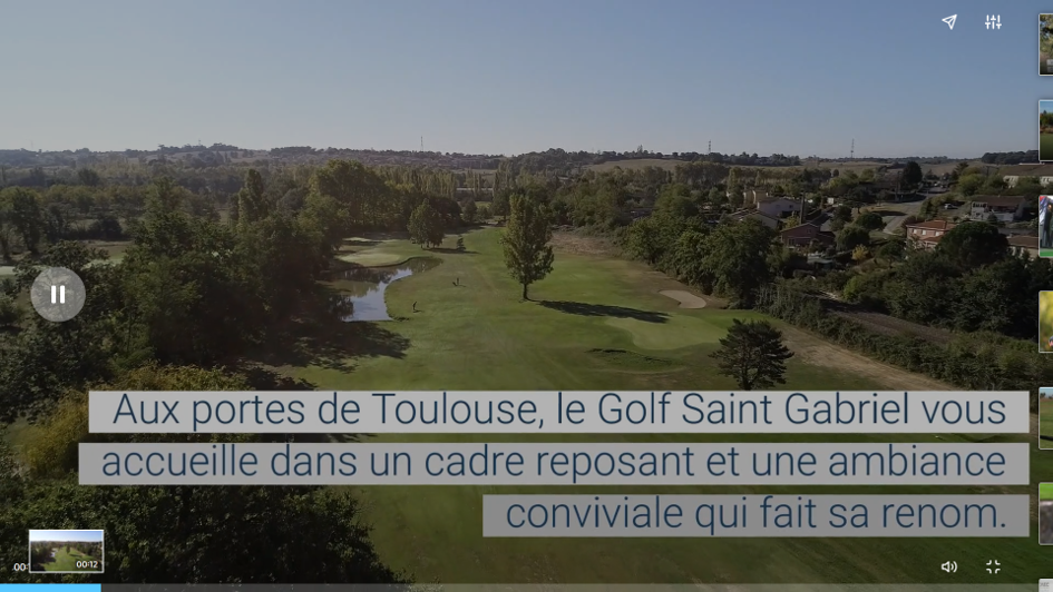 LE GOLF SAINT GABRIEL EN VIDEO !